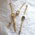 Элегантные женские круглые маленькие часы с квадратным циферблатом и золотыми изящными кварцевыми часами