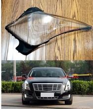 Reflektor samochodowy obiektyw do Cadillac XTS 2013 2014 2015 2016 2017 reflektor samochodowy pokrywa reflektor obiektyw Auto Shell pokrywa tanie tanio DVFSLV Reflektory Headlamp Shell Polycarbonate (PC)