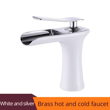 Basin Faucet Black Waterfall Bathroom Faucets Hot Cold Water Basin Mixer Tap Chrome Brass Toilet Sink Water Taps Crane Gold 1401 8