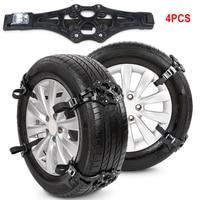 4PCS Anti Slip Auto Tire Snow Chains Universal Ice Sand Muddy Anti Skid Tire Straps Car Tyre Winter Roadway Safety Vehicles