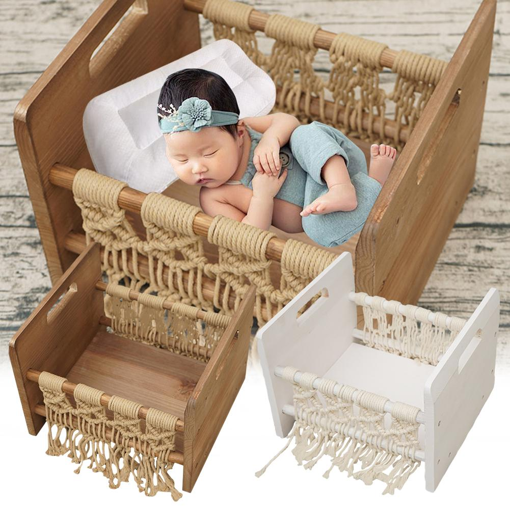 Wooden Bed Baby Photography Props Newborn Photo Studio Crib Props For Photo Shoot Posing Sofa Wooden Baby Photography Props Bed