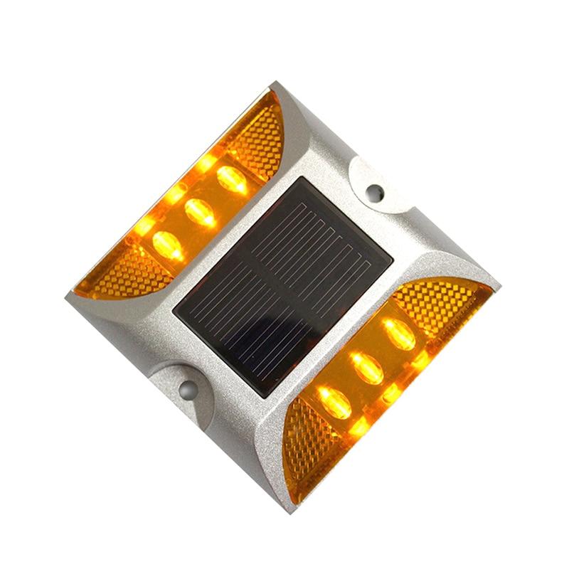 Solar Led Road Studs Global Care Market Solar LED Road Pathway Street Marker Lights 4 Piece Pack