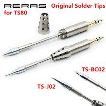 TS BC02 TS J02 TS D24 TS K4 TS B02 BC2 J02 الأصلي لحام رئيس ل TS80 استبدال اللحيم تلميح سبيكة لحام طقم أدوات عدة