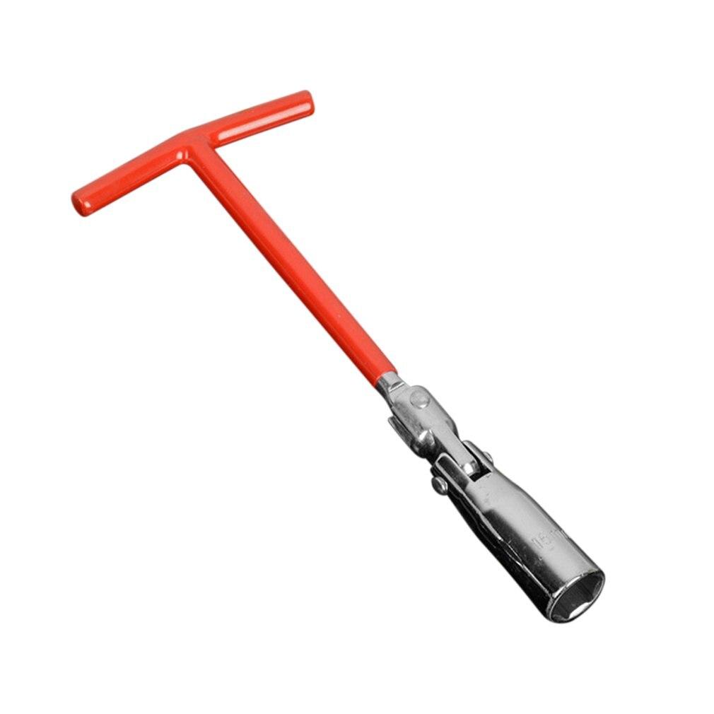 16/21mm Spark Plug Socket Wrench T-Bar Flexible Spanner Remover Installer Universal Joint  Hand Tool Inner Hexagon Repair Tool