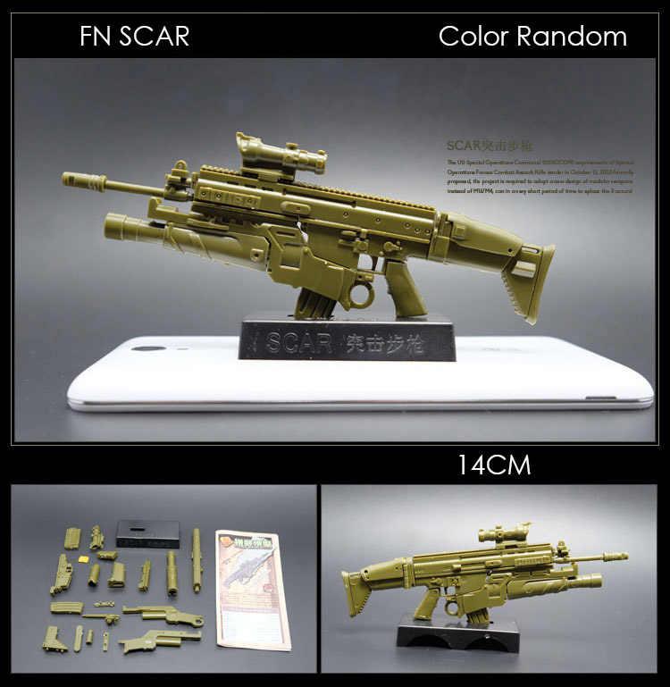 1:6 مقياس تجميعها بندقية نموذج أسلحة FN ندبة AK 74 قناص بندقية HK416 رشاش البنادق العسكرية محاكاة لعب اللون عشوائيا
