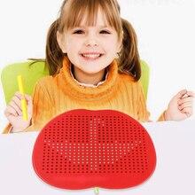 Большой магнитный пластиковый милый планшет магнитная подушка доска для рисования стальная бусина стилус шарик обучающая развивающая игрушка для письма для детей