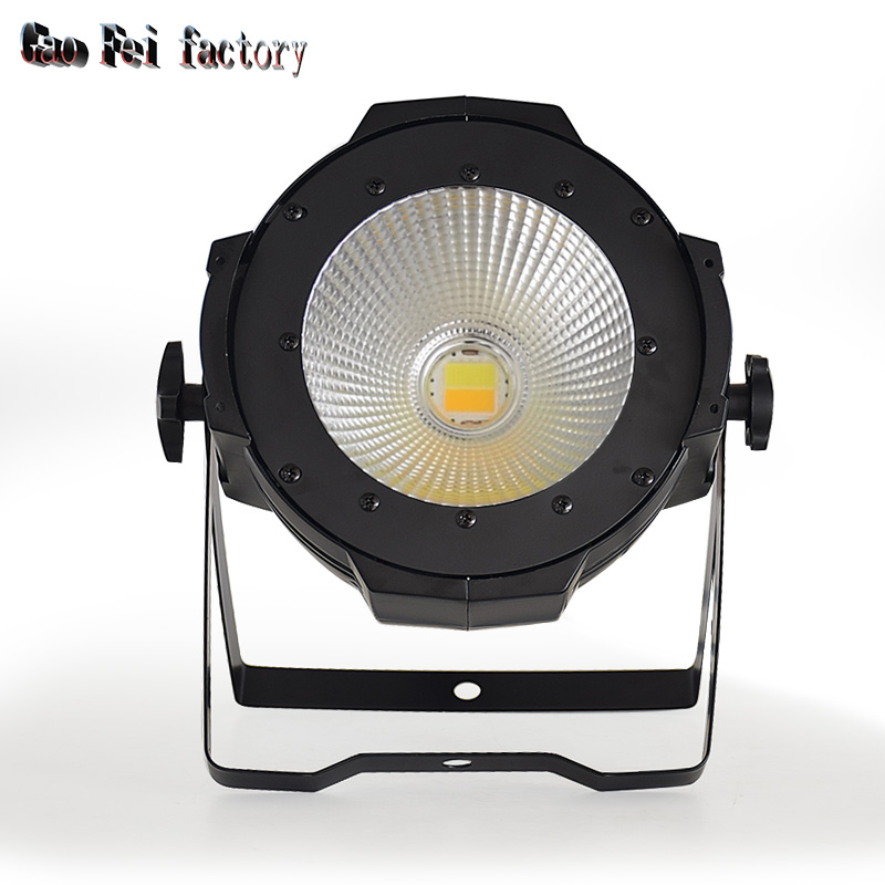 High Brightness LED Par Light COB 100W High Power Aluminium White+Warm White 2in1 DMX Strobe Effect Stage Lighting