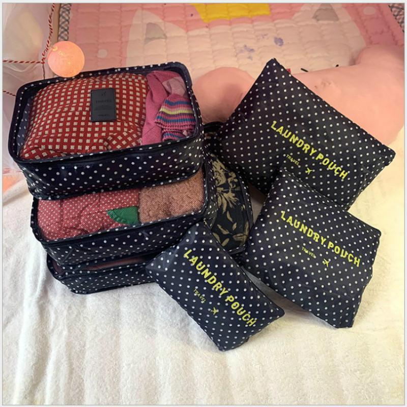 Travel Packing Cubes 6pcs/set Fashion Waterproof Large Capacity Clothing Sorting Organize Bag Storage Package Men Weekender Bag