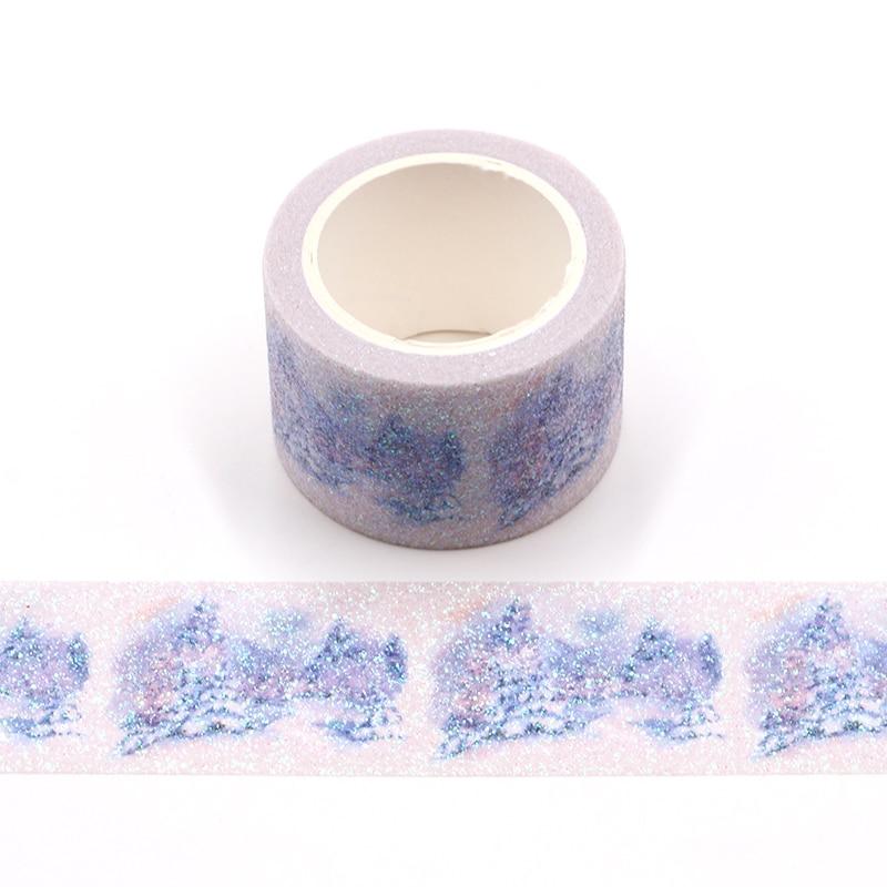 Beautiful Flower Bullet Journal Glitter Washi Tape Cute Decorative Adhesive Tape DIY Scrapbooking Sticker Label Stationery