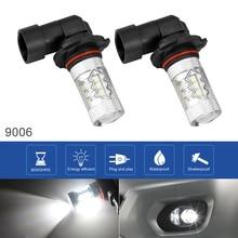 2pcs 9006 Car Auto LED Fog Lamp 12V 100W  6000K White Highlighting Automobile Headlights Light Bulbs for Cars