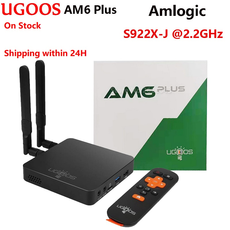 UGOOS AM6 Plus Amlogic S922X-J Set Top Box 4GB DDR4 32GB 1000M LAN 2.4G 5G Wifi BT5.0 4K Media Player AM6 PRO Android 9.0 TV Box