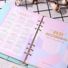 Календарь 2021 разделитель индекса на 6 отверстий дневник ежедневник