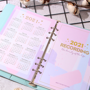 2021 Calendar Index Divider for 6 Holes Diary Binder Month Planner Notebooks A5 A6 Chedule Inner Page Card