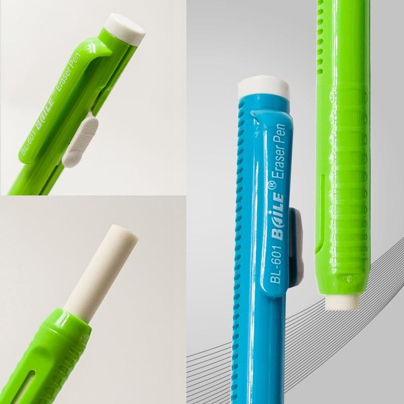 1 pçs imprensa estilo automático lápis borracha doces cor caneta de borracha substituível núcleo arte desenho escrita correção suprimentos