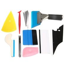 лучшая цена Mayitr 10pcs Vinyl Wrap Car Tools Set Film Magnetic Holder Window Tint Squeegee Car Sticker Wrapping Cutter DIY Accessories