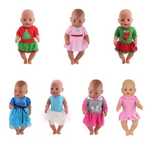 13pcs/American Doll Accessories Dress Set for 18-inch American dolls and 43cm baby doll clothes Skirts, children's holiday gifts 1 set 18 american girl doll clothes and accessories white shirt and flower trousers 18 inch american girl dolls clothes ingbaby