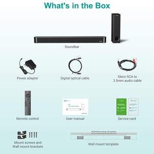 Image 5 - Barre de son pour Home TV, 120W, Bluetooth 5.0, haut parleurs sans fil, 3D stéréo, colonne Surround, caisson de basses avec télécommande