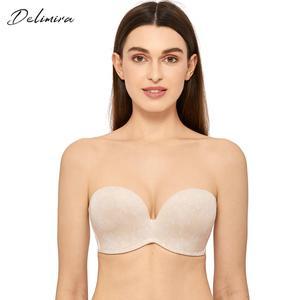 Image 1 - Delimira Womens Slightly Lined Custom Lift Seamless Strapless Bra