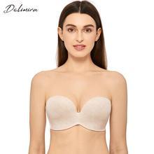 Delimira soutien gorge sans bretelles sans couture pour femmes