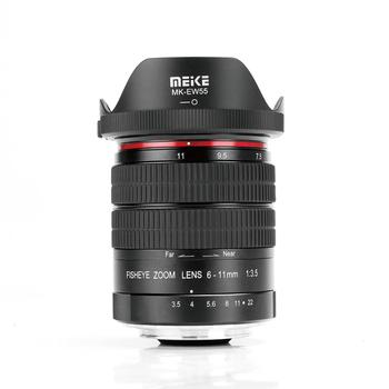 Meike 6-11mm Ultra Wide F3.5 Zoom Fisheye Lens for All Canon EOS EF Mount DSLR Cameras with APS-C/Full Frame+Free Gift 7artisans 25mm f1 8 prime lens to all single series for e mount canon eos m mout micro 4 3 cameras a7 a7ii a7r free shipping