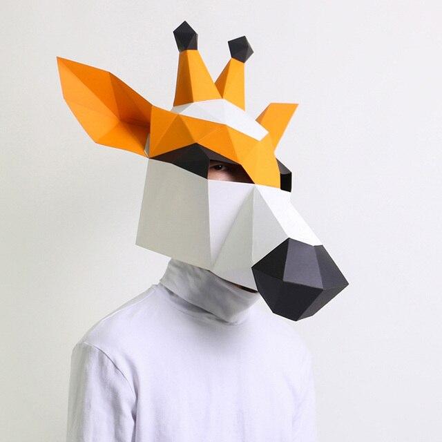 מסכת ראש אוריגמי - ג'ירפה 1