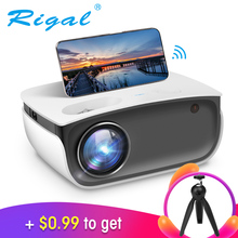 Mini Projector Smartphone Video Android Home Theater 1080P Beamer RD850 720P Rigal LED
