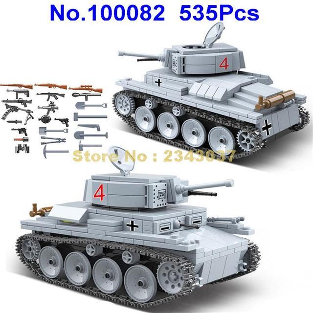 535 個ww2 軍事lt 38 ドイツライトタンク兵士の武器世界戦争ii武器 2 ビルディングブロックのおもちゃ