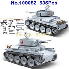 535pcs ww2 military lt 38 german light tank soldier weapon world war ii weapon 2  building blocks Toy