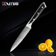 "XITUO damascus kitchen knives 5""Inch 67 Layers japanese damascus steel VG 10 Chef knife Cleaver Paring Peeling Cooking tool gift"
