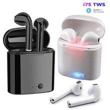 I7s TWS Drahtlose Ohrhörer Bluetooth 5,0 Kopfhörer sport Earbuds Headset Mit Mic Für smartphone Xiaomi Samsung Huawei LG