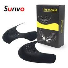 Com caixa de sapato escudo sapatilha anti vinco toe caps protetor sapato maca expansor shaper suporte sapatos enrugado dropshipping