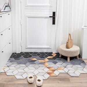Doormat Dust Removal Door Mat Nordic Entrance Doormat PVC Anti-Slip Floor Mat Carpet Bathroom Kitchen Indoor Door Mat Carpet