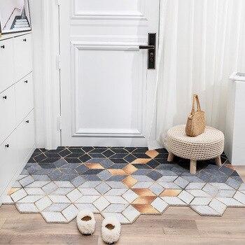 Doormat Dust Removal Door mat Nordic Entrance Doormat PVC Anti-Slip Floor Mat Carpet Bathroom Kitchen indoor Door mat carpet pebble series flannel printing home anti slip absorbent entry mat bathroom mat door mat bedside mat