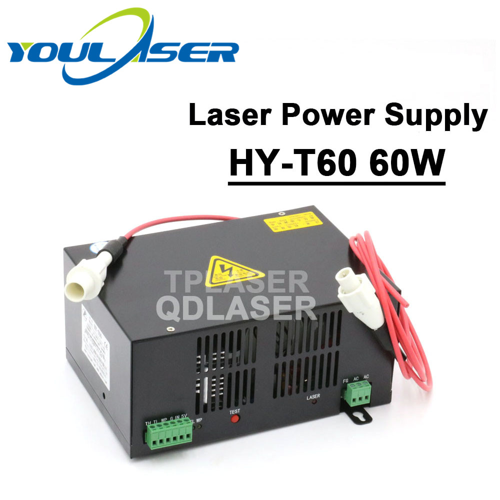 HY-T60 Co2 Laser Power Supply 60w For Laser Engraving And Cutting Machine