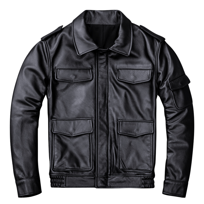 Free Shipping,99.99!2020 Sales Casual Leather Jacket.Middle-aged Man Genuine Leather Coat.winter Quality Cowhide Jackets.