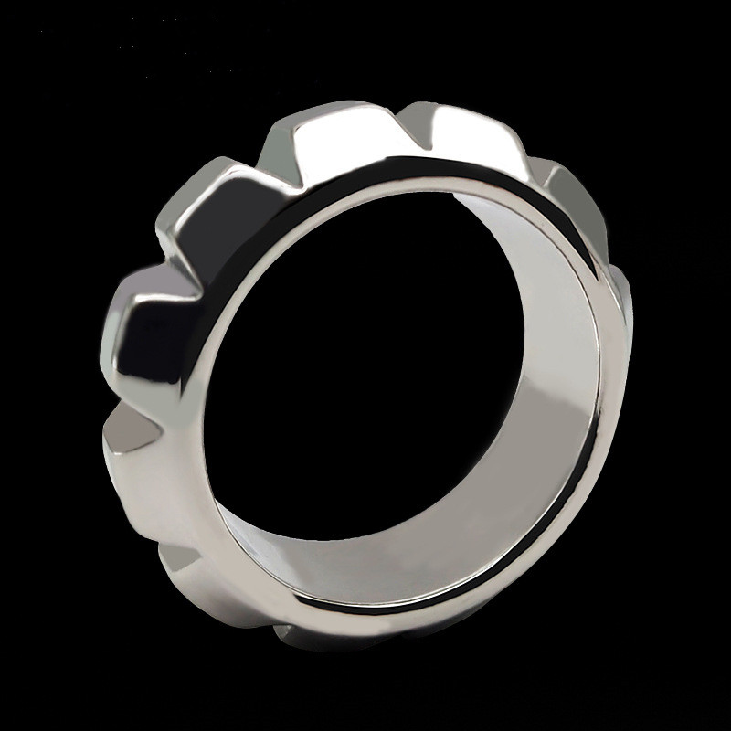 Stainless Steel Male Ball Scrotum Stretcher Metal Penis Lock Ring Bondage Delay Ejaculation BDSM Sex Toys For Man