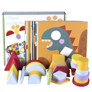12 двухсторонних сцен и 120 шт красочная головоломка с деревянным узором для начинающих обучающая игрушка для дошкольников