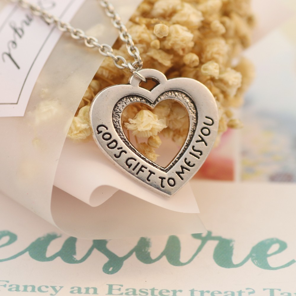 Becoler Hollow Love Letter Long Pendant Necklace Personality Dog Feet Chain
