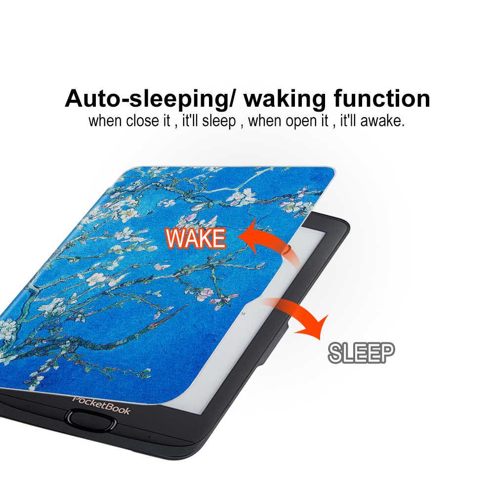 حافظة نحيفة من خجول بير لهواتف جيب 616/627/632 Touch Lux4 Ereader حافظة لهاتف جيب تاتش اتش دي 3/الاساسية لوكس 2 Ebook + gift