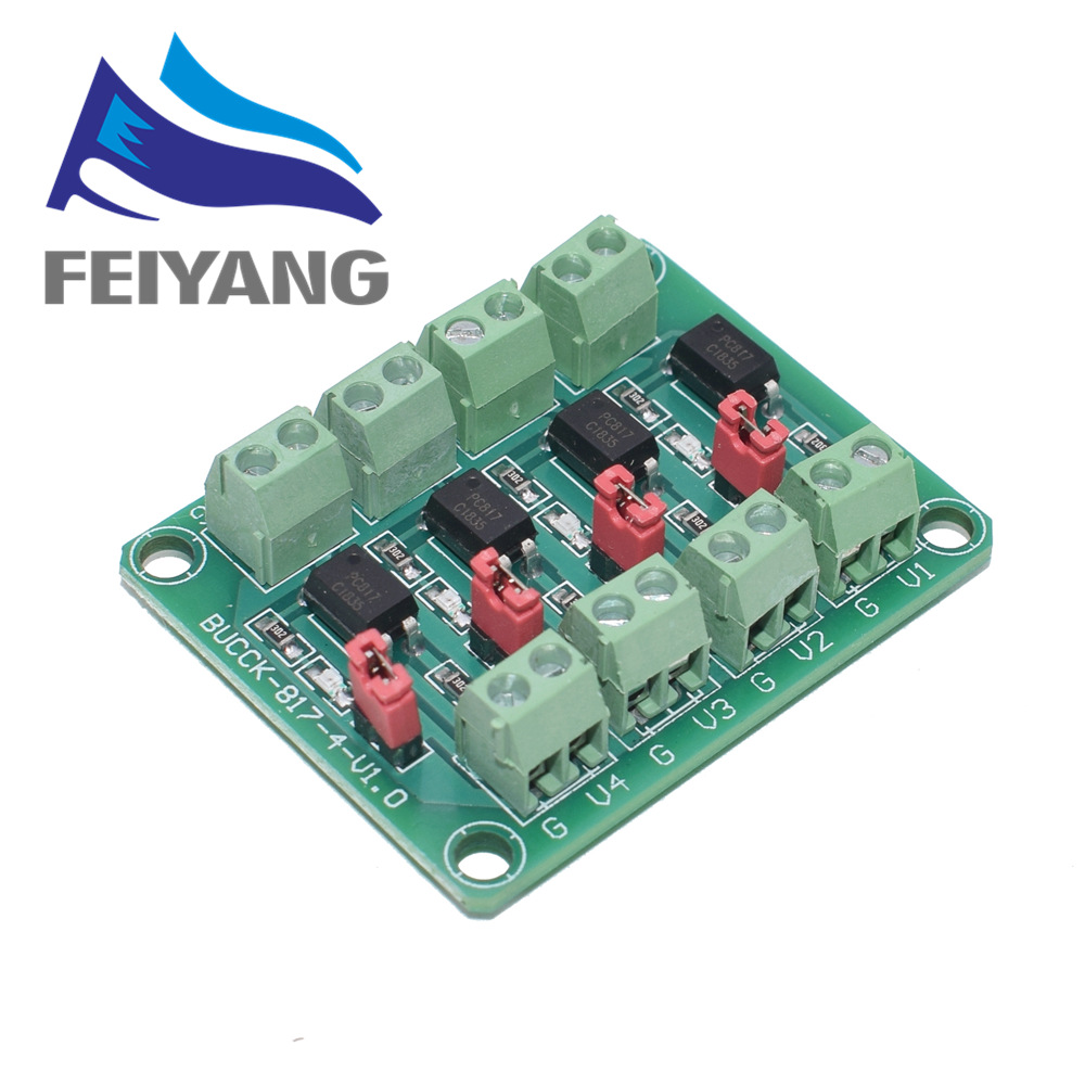 PC817 4 Channel Optocoupler Isolation Board Voltage Converter Adapter Module