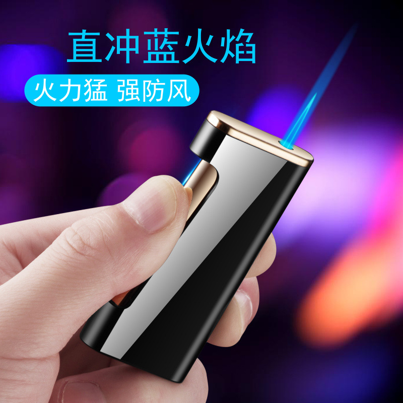 New Side Side Press Ignition Butane Gas Lighter Inflatable Torch Turbo fire starter Personality Windproof Cigar Lighter Metal|Matches|   - AliExpress