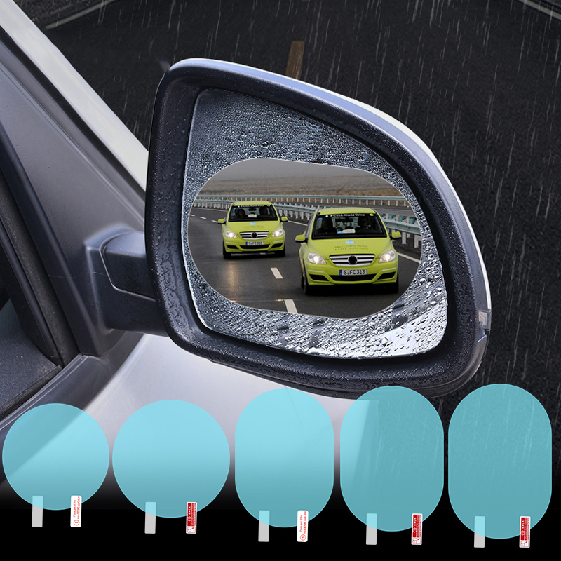 1pcs Car Sticker Anti Fog Car Rearview Mirror Protective Film Car Mirror Window Clear Film Membrane Waterproof Car Accessories