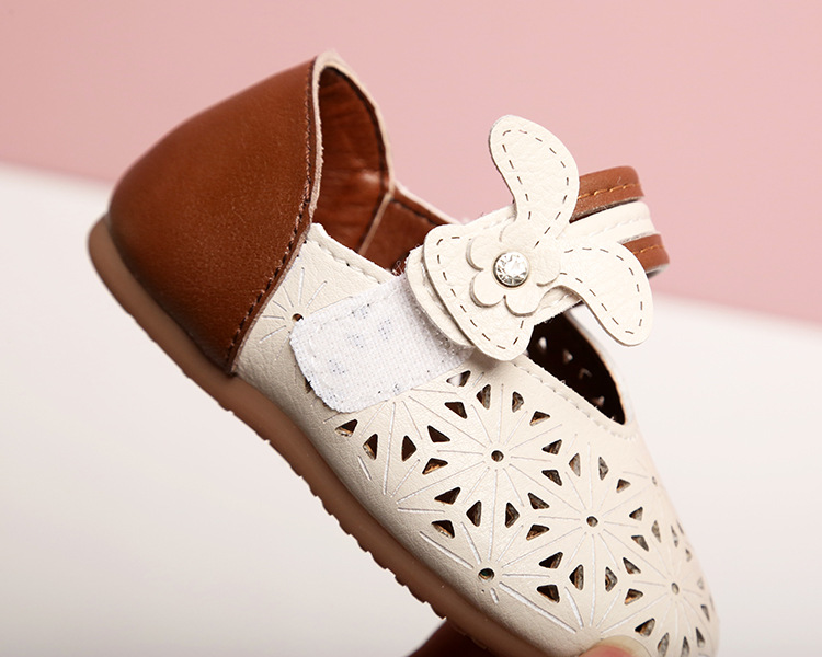 New Children Kid Girl Flock Crystal Metal Princess Student Party Single Shoes