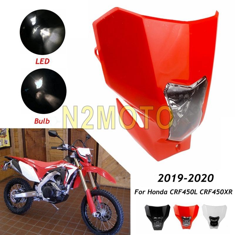 Motorcycle Universal Head Lamp Lighting Enduro Dual Sport Dirt Bike 12v LED Headlight Fairing For Honda CRF450L CRF450XR 19-2020