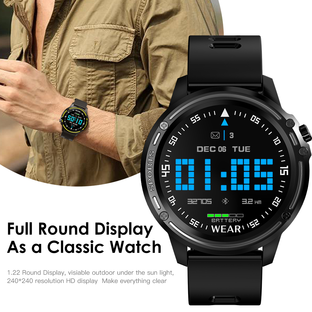 H1c6c0d19fe9c43519f654a8f62f115971 L8 Smart Watch Men Fitness Tracker Heart Rate Blood Pressure Monitoring Smart Bracelet Ip68 Waterproof Sports Smartwatch