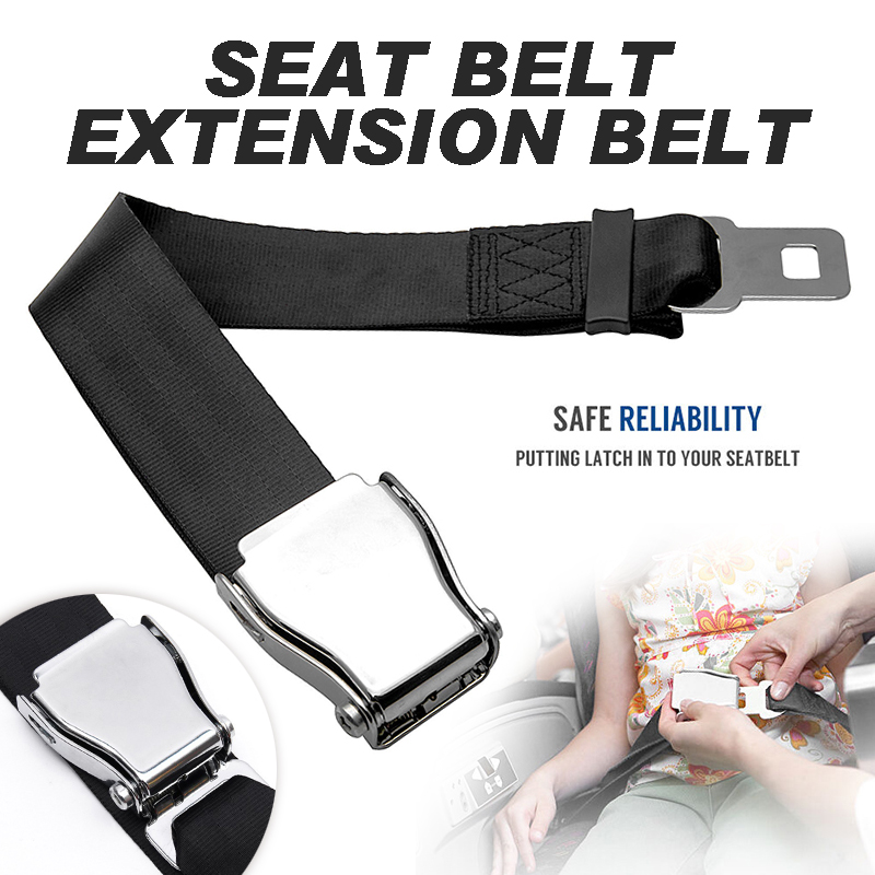 1pc 50-85cm Adjustable Seat Belt EXtension Airplane Airline Aircraft Seat Belt Extender With Buckle image
