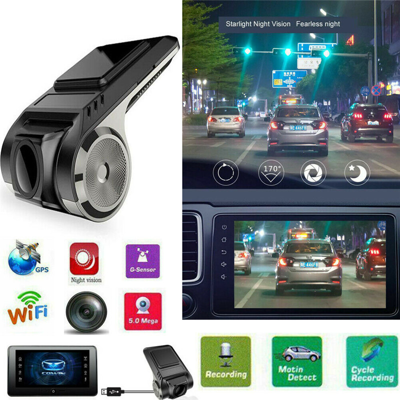 PYMH Mini 170° 720P  FHD Car DVR 2MP Camera Video Recorder ADAS G-sensor Dash Cam USB