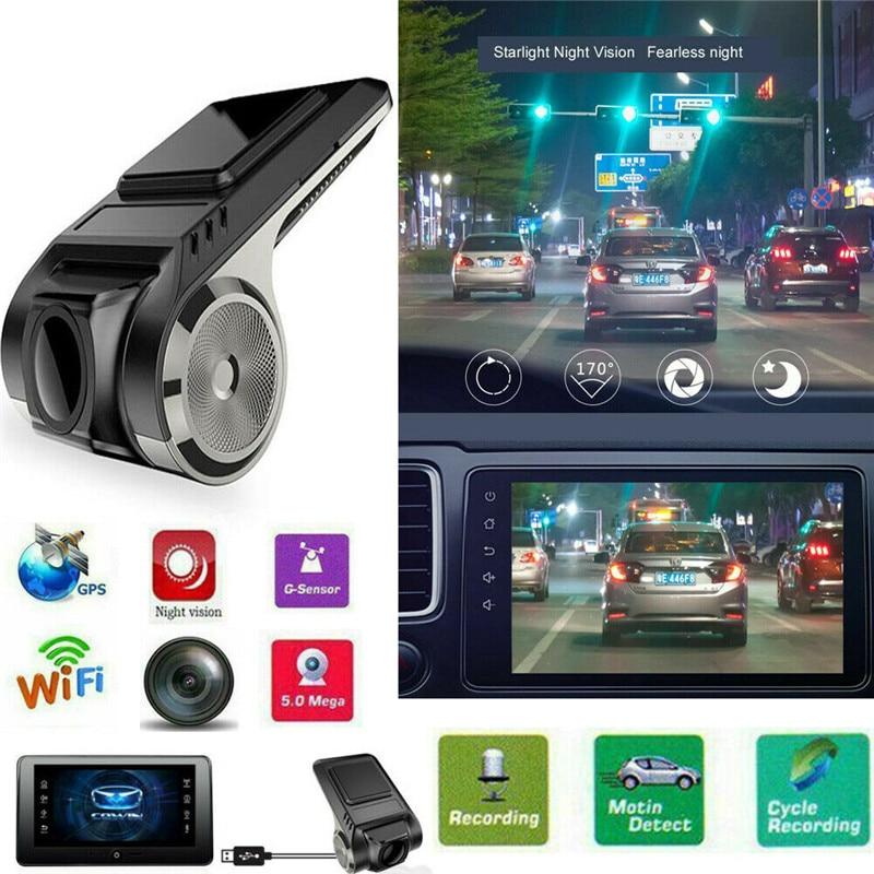 PYMH Mini 170° 720P  FHD Car DVR 2MP Camera Video Recorder ADAS G-sensor Dash Cam USB
