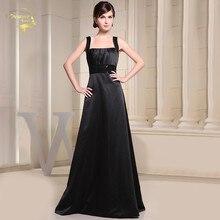 Vestidos Para Festa De Casamento Black Satin Bridesmaid Dresses Sequins Belt Simple Cheap Maid of Honor for weddings