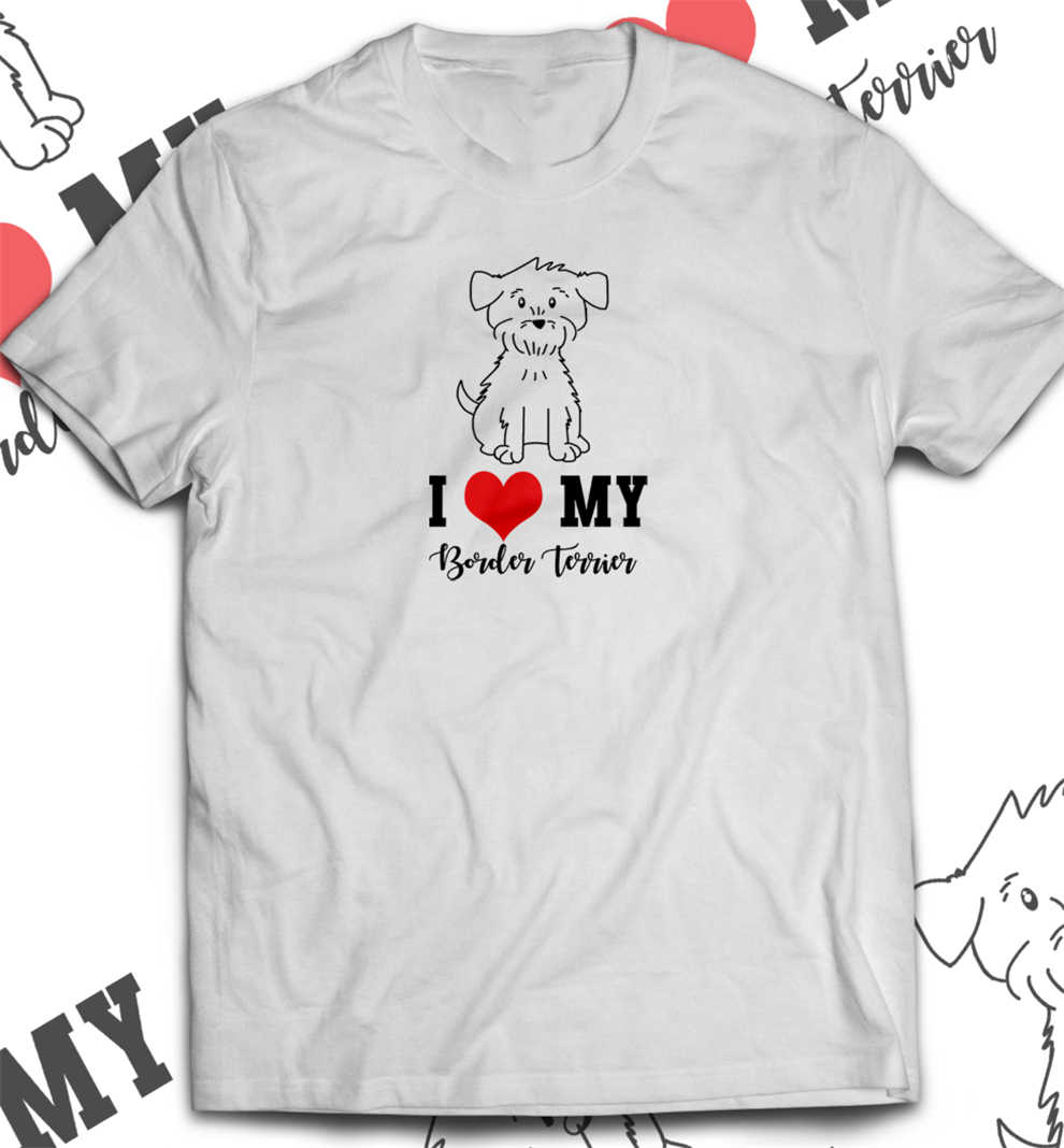 Футболка с надписью «I Love My Dog», унисекс, забавная футболка для любителей собак, популярная футболка